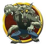 Monstruo de la criatura mítica del hombre lobo del zombi stock de ilustración