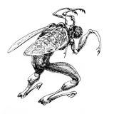 Monstruo de la fantasía libre illustration