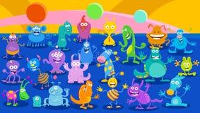 Monstruo de la historieta o fantasía extranjera grupo enorme libre illustration