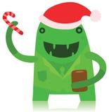 Monstruo de la oficina en equipo de la Navidad Fotografía de archivo libre de regalías