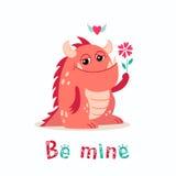 Monstruo de la tarjeta del día de San Valentín Fotografía de archivo