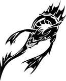 Monstruo de mar - ilustración del vector. Vinilo-listo. Fotografía de archivo