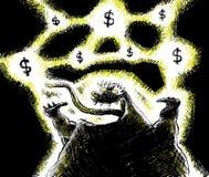 Monstruo del dinero stock de ilustración