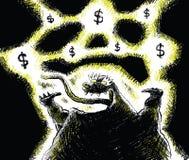 Monstruo del dinero ilustración del vector