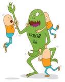 Monstruo del error 404 Imagenes de archivo