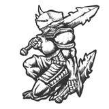 Monstruo del guerrero con el ejemplo de la armadura stock de ilustración
