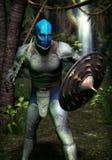 Monstruo del guerrero de la fantasía Foto de archivo libre de regalías