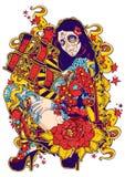 Monstruo del tatuaje Foto de archivo libre de regalías