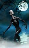Monstruo del vampiro en pantano Fotos de archivo