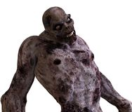 monstruo del zombi del ejemplo 3D Imagen de archivo libre de regalías