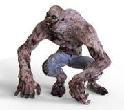 monstruo del zombi del ejemplo 3D Imágenes de archivo libres de regalías