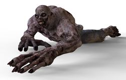 monstruo del zombi del ejemplo 3D Foto de archivo libre de regalías