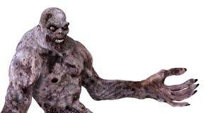 monstruo del zombi del ejemplo 3D Fotografía de archivo