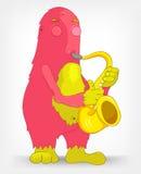 Monstruo divertido. Saxofonista. Fotos de archivo libres de regalías