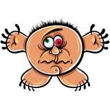 Monstruo extraño de la historieta, retrato loco del zopenco libre illustration