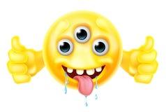 Monstruo extranjero Emoji que da los pulgares para arriba libre illustration