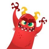 Monstruo lindo del diablo Carácter de Halloween de la historieta del vector Fotografía de archivo libre de regalías