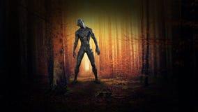 Monstruo malvado surrealista, extranjero, fantasía, ciencia ficción fotos de archivo