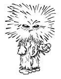 Monstruo melenudo divertido inusual. Libre Illustration