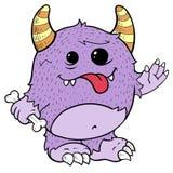 Monstruo púrpura lindo, ilustración Imagenes de archivo