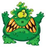 Monstruo verde terrible Imagen de archivo libre de regalías
