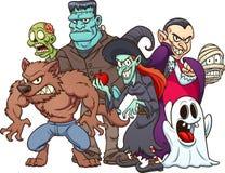 Monstruos de Halloween stock de ilustración