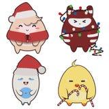 Monstruos de la Navidad ilustración del vector