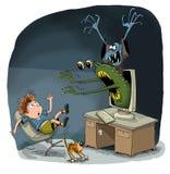 Monstruos de los zombis foto de archivo libre de regalías