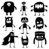 Monstruos de Víspera de Todos los Santos Imágenes de archivo libres de regalías