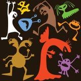 Monstruos del Doodle Foto de archivo libre de regalías