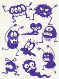 Monstruos del Doodle Fotos de archivo