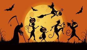 Monstruos del partido para Halloween ilustración del vector