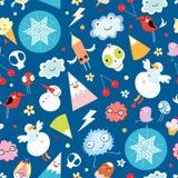 Monstruos divertidos de la textura Imagen de archivo libre de regalías