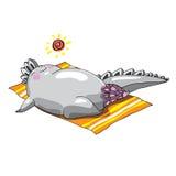 Monstruos encantadores que asolean en la playa Imagen de archivo