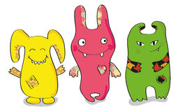 monstruos Feliz-coloreados Fotografía de archivo libre de regalías