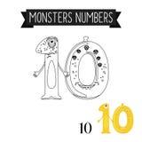 Monstruos número 10 de la página que colorean ilustración del vector