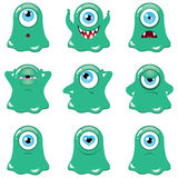Monstruos verdes Imagen de archivo libre de regalías