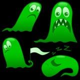Monstruos verdes Fotos de archivo