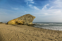 Monsul beach. This beach is the natural park of Cabo de Gata in Almeria Royalty Free Stock Photography