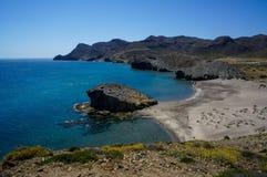 Monsul Beach in Cabo de Gata-Nijar Natural Park, Spain Royalty Free Stock Photos