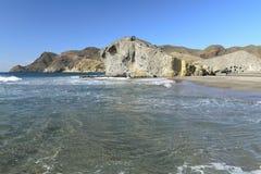 Monsul wyrzucać na brzeg, Cabo de Gata park narodowy, Almeria Zdjęcia Royalty Free