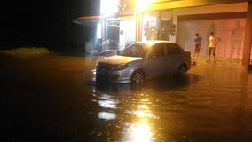 Monsun-Flut lizenzfreies stockfoto