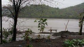 Monsun i Indien Arkivbild