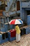 Monsun i Indien, blå stad Jodhpur Arkivfoton