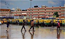 Monsun nach Effekten stockfotos