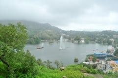 Monsun nad wzgórze stacją Zdjęcia Royalty Free