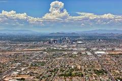 Monsun-Wolken über Phoenix lizenzfreies stockbild