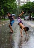 Monsunliv Royaltyfria Bilder