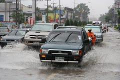 Monsunregen in Thailand lizenzfreie stockbilder