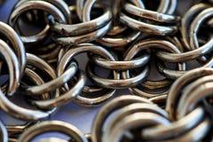 Montão Chain - fundo abstrato do metal fotografia de stock royalty free
